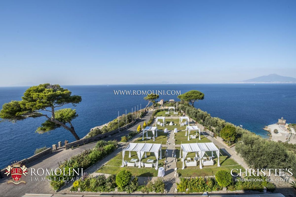 COASTAL ESTATE WITH LUXURY SEA VIEW VILLA AND 75ACRES OF LAND FOR SALE ON THE AMALFI COAST, Sorrento