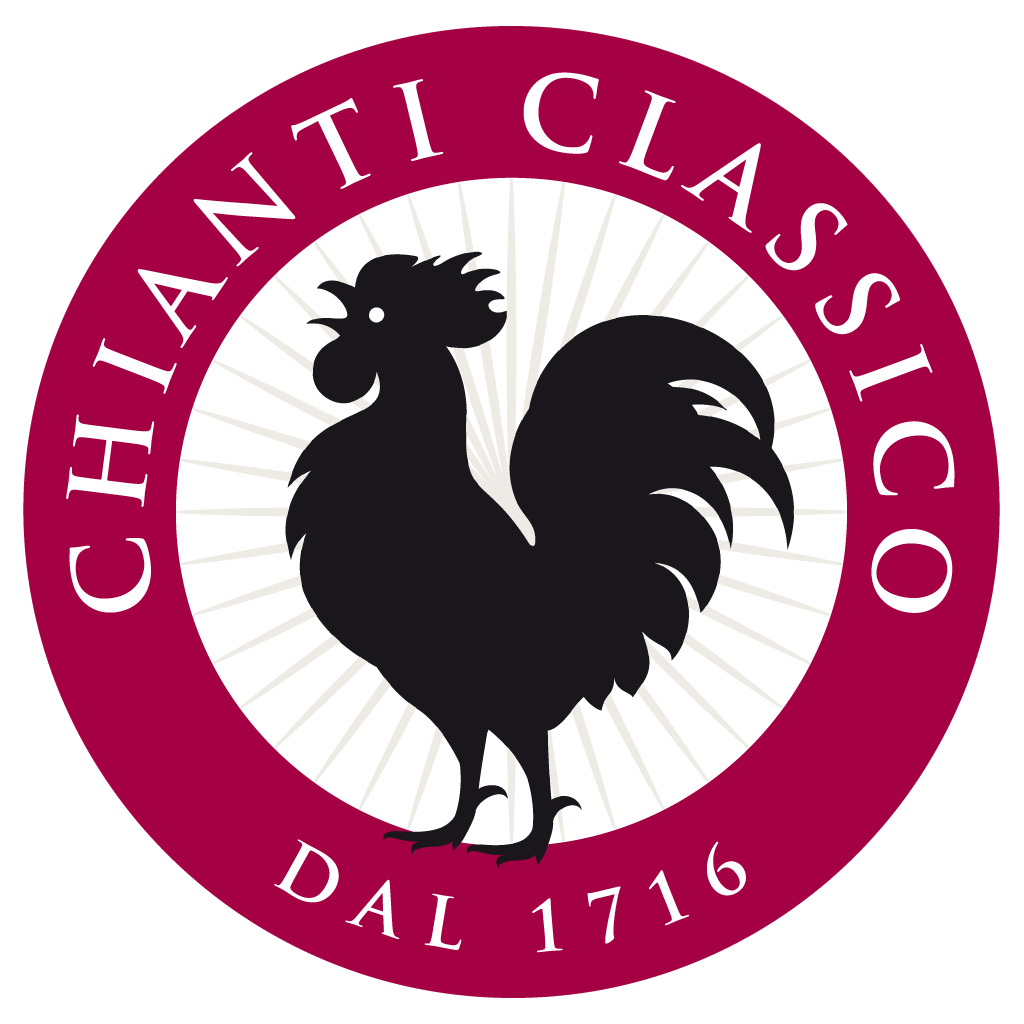 The famous Gallo Nero, once represented on the banner of the League of Chianti and now symbol of Chianti Classico