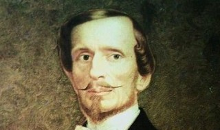 A portrait of baron Bettino Ricasoli, who first proposed a recipe for Chianti based on multiples varieties of grapes